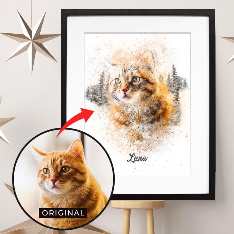 Personalisiertes Winter Tier-Poster - 100% einzigartig