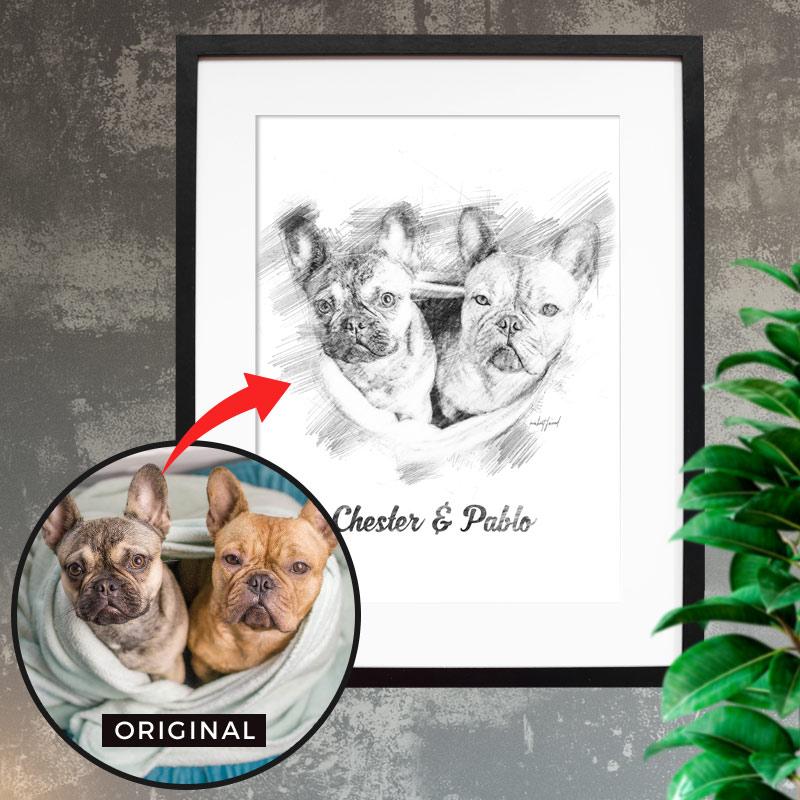 Weihnachtsgeschenke für Hundemamas und -Papas - Personalisierte Poster mit Name